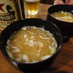 シュガー サケ アンド コーヒー - お通しは味噌汁