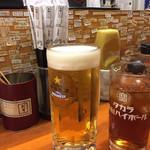 静岡おでんや おばちゃん 青葉横丁 - 生ビールとウーロン茶