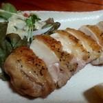 旨い酒と肴 呑喜 - 『ありた鶏の黒胡椒焼き』ジューシーな肉質にパリッとした皮が旨い!