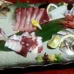 旨い酒と肴 呑喜 - 牡蠣、カツオ、イカ、鯛、蛸、コハダ?、甘エビ