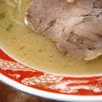 中華そば 乙丸 - スープの表情