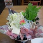 丹波の宿 恵泉 - 夕食コース 丹波地鶏の鍋