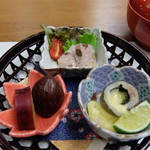 丹波の宿 恵泉 - 夕食コース 小鉢3品の籠