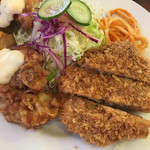 キッチン太郎 - 鶏南蛮とメンチカツのプレート