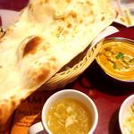 フルバリ - 野菜カレー、スープ、ナン