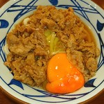丸亀製麺 - 牛すき釜玉♥ (*^-^)/\(*^-^*)/\(^-^*)