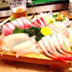 居酒屋 さかなや  - 料理写真:お刺身5点盛り鮮度バツグンコスパ率高✨