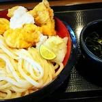 丸亀製麺 - タル鶏天ぶっかけ(大)