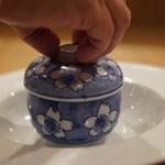 57438744 - スッポンと松茸、キヌガサダケの極上澄ましスープ