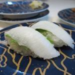 廻鮮鮨ととぎん - エンガワ(カラスガレイ)