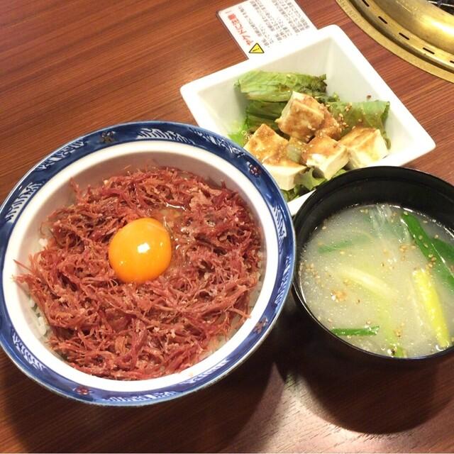 焼肉 腰塚 自由が丘店 - 腰塚の極上コーンビーフ丼 1000円