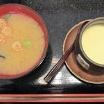 沼津魚がし鮨  - 沼津握り(茶碗蒸し・味噌汁)