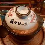 57446415 - かわいい土鍋で出てくる。