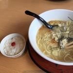 天下ご麺 - 鶏の白雪麺 (〆メシ付き)