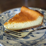 ひばり珈琲 - ベイクドチーズケーキ
