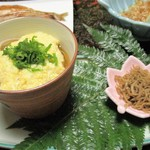 湯ヶ島温泉 湯本館 - 蕎麦(山芋温泉卵合え)