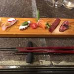 57455235 - 本日の鮮魚+神戸牛のカルパッチョ