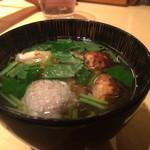 饗 くろ喜 - 鴨と松茸のつけそば ¥1600