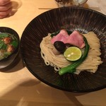 饗 くろ喜 - 限定、鴨と松茸のつけそば ¥1600