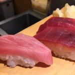 沼津魚がし鮨 - 中トロと赤身