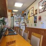 喰い処 まるはち - 壁には、阪神タイガース関連のグッズやタレントさんの色紙がいっぱい