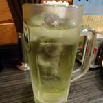 焼鳥日高 - 「緑茶ハイ」290円也。