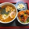 松鶴 - 料理写真:ラーメン&のりカラアゲ丼
