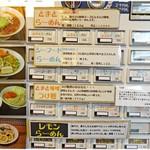 57462826 - 券売機上段。つけ麺も人気でした。