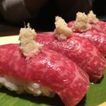 山形山 月島店 - 肉寿司       山わさび
