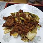 鳳飯店 - 日替わりの豚肉キャベツ炒め定食650円
