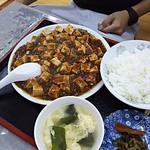 鳳飯店 - 麻婆豆腐定食750円 すごいボリューム