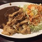 ひやけ - 生姜焼きカレー アップ