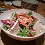 57467032 - おぼろ豆富と生湯葉のサラダ