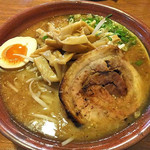 麺屋 一本気 - みそらー麺・めんま(大盛)(2016年10月)