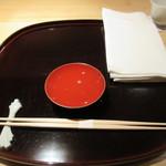 57470277 - [ランチ]食前酒、静岡県高砂ひやおろし