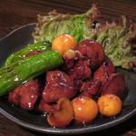 登利蔵 - 料理写真:鳥もつ煮