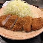 とん太 - ロースかつ定食 豚汁付 @690-
