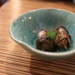 割烹 みや古 - 深川めしセットの小鉢「秋刀魚の煮付け」
