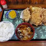 峠の茶屋 - 若鶏の唐揚げセット(2016年10月)
