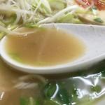 らーめん なんぞ屋 - 鶏豚魚ラーメン(830円)スープ