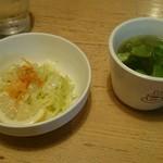 ヴィラ玉山 - セットのスープとサラダです