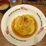 MADE IN JAPAN かにチャーハンの店 - ・「モーニング 半熟たまごのかに玉チャーハン(\500)」