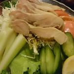 すもう食酒屋 北の富士 - 鶏ハムサラダ ¥680