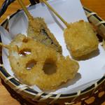 飯場 - 一口串揚げ3種盛り