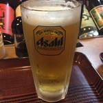 山屋 - 生ビールです。