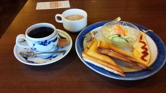 喫茶店 友路有 赤羽二号店 - ホットサンドハムチーズセット 580円