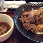 せんや - 料理写真:きんぴら肉うどん(つけ)
