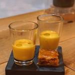 エスタシオン - 料理写真:アミューズ 南瓜のスープとエンパナーダ