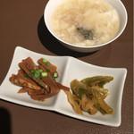 中国飯店 - セットのスープと小付け2種