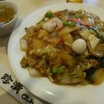 中国料理 珍満 - 什錦炒麺(五目あんかけ焼きそば) 886円